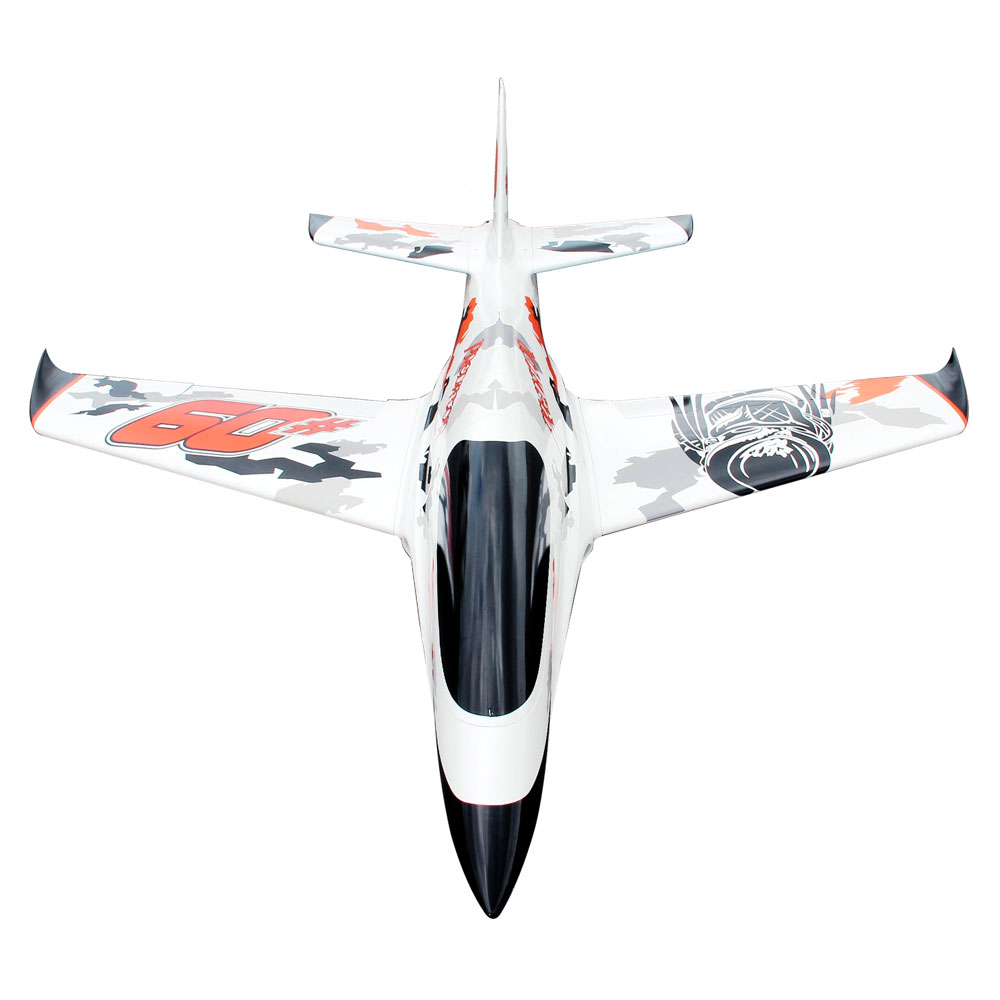 Pilot-RC Predator 2.2m Composite Jet - White/Orange/Black (Scheme 01)