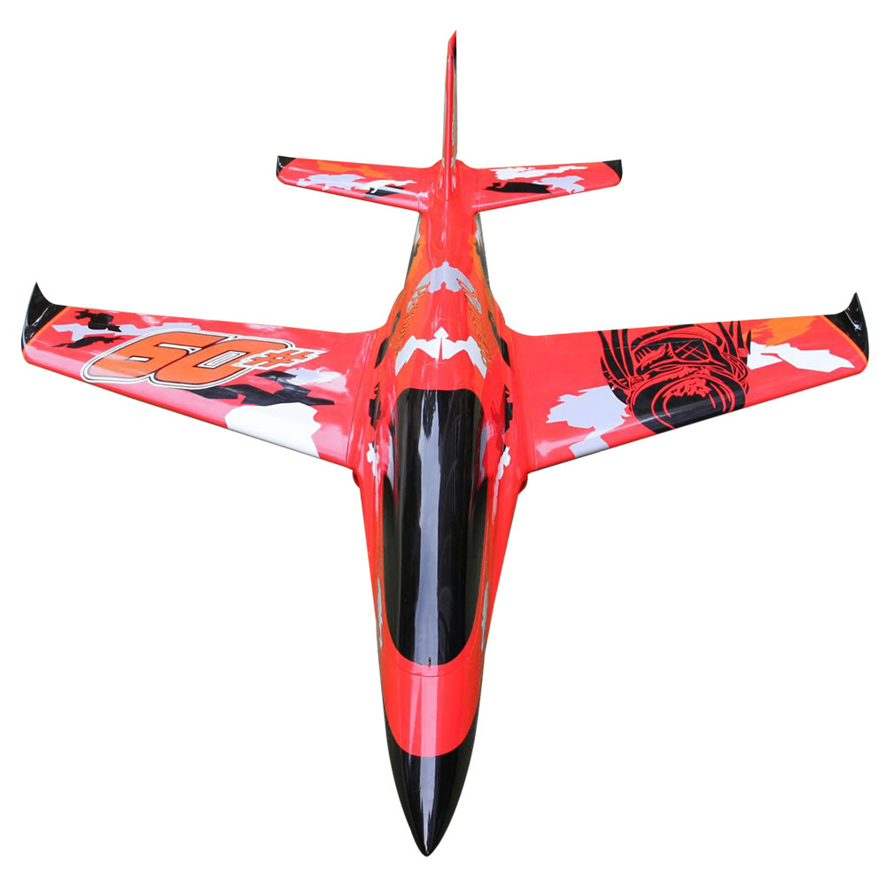 Pilot-RC Predator 1.8m Composite Jet - Red/Orange/Black (Scheme 02)
