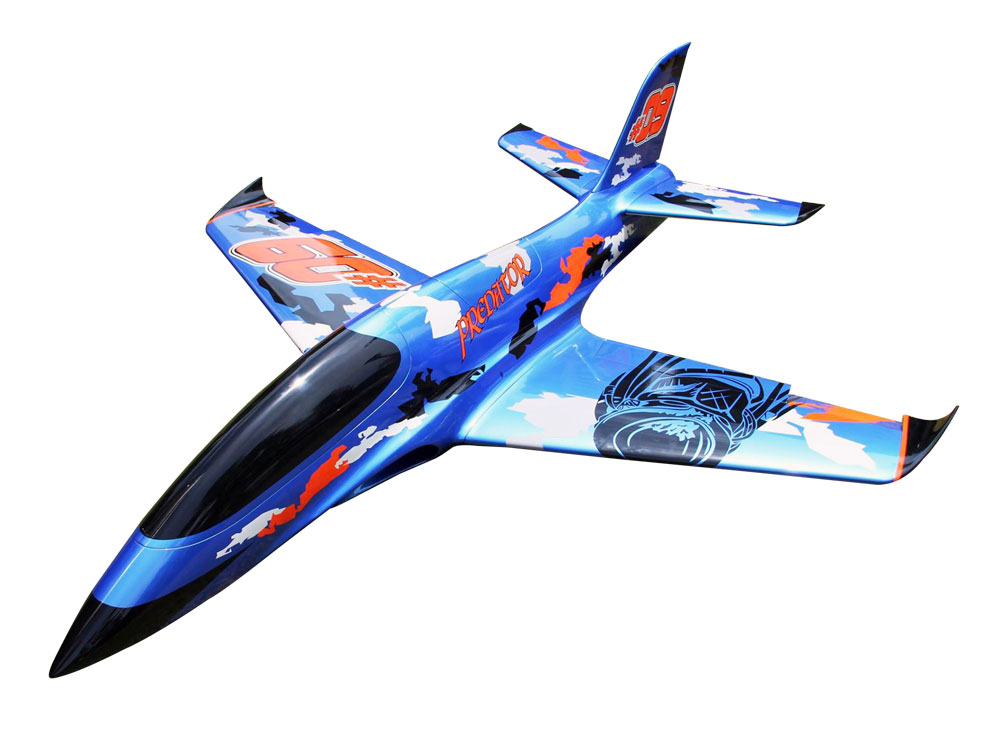 Pilot-RC Predator 2.2m Composite Jet - Blue/Orange/Black (Scheme 03)