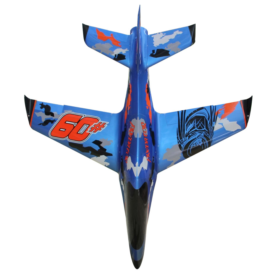 Pilot-RC Predator 1.8m Composite Jet - Blue/Orange/Black (Scheme 03)