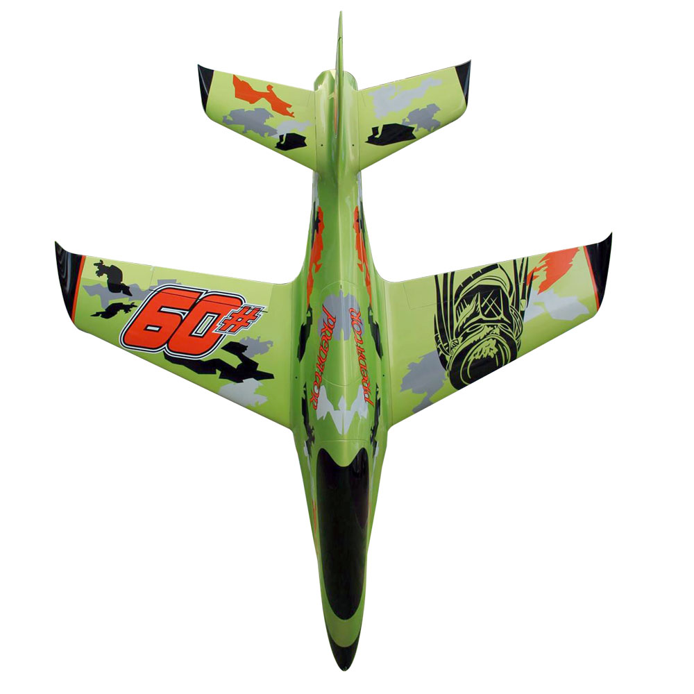 Pilot-RC Predator 1.8m Composite Jet - Green/Orange/Black (Scheme 05)