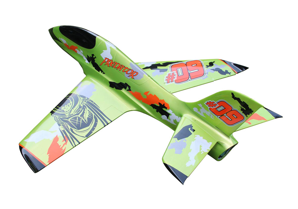 Pilot-RC Predator 2.2m Composite Jet - Green/Orange/Black (Scheme 05)