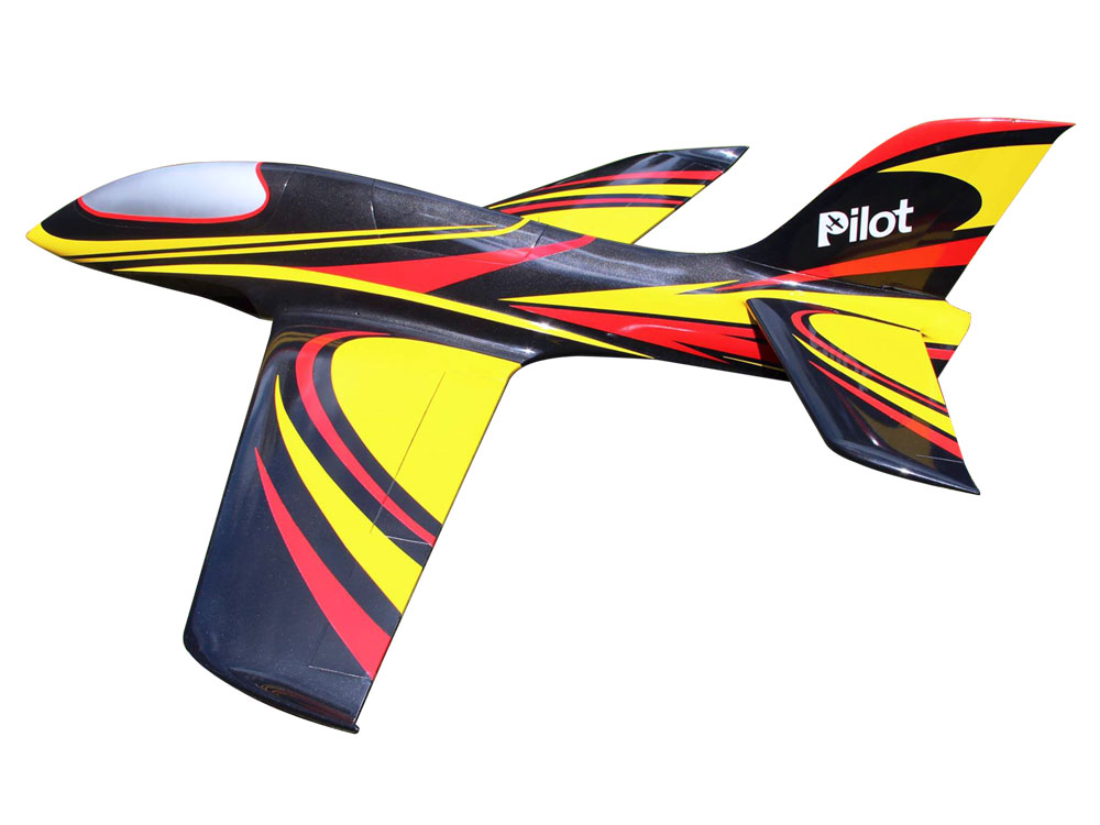 Pilot-RC Predator 1.8m Composite Jet - Black/Yellow/Red (Scheme 06)