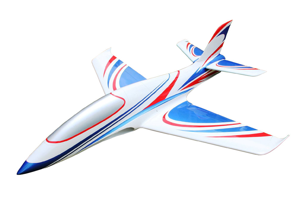 Pilot-RC Predator 1.8m Composite Jet - Blue/White/Red (Scheme 07)