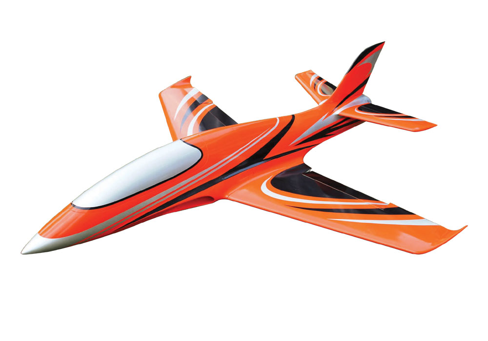 Pilot-RC Predator 1.8m Composite Jet - Orange/Black/Silver (Scheme 08)