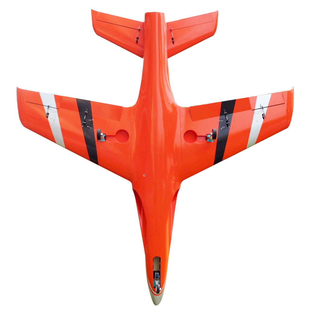 Pilot-RC Predator 2.2m Composite Jet - Orange/Black/Silver (Scheme 08)
