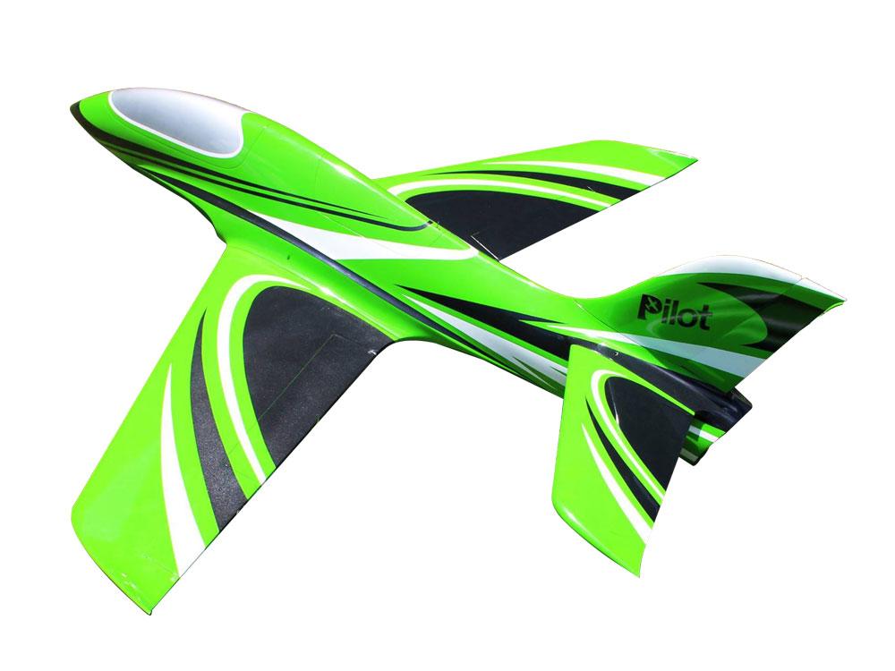 Pilot-RC Predator 2.2m Composite Jet - Green/Black/White (Scheme 09)