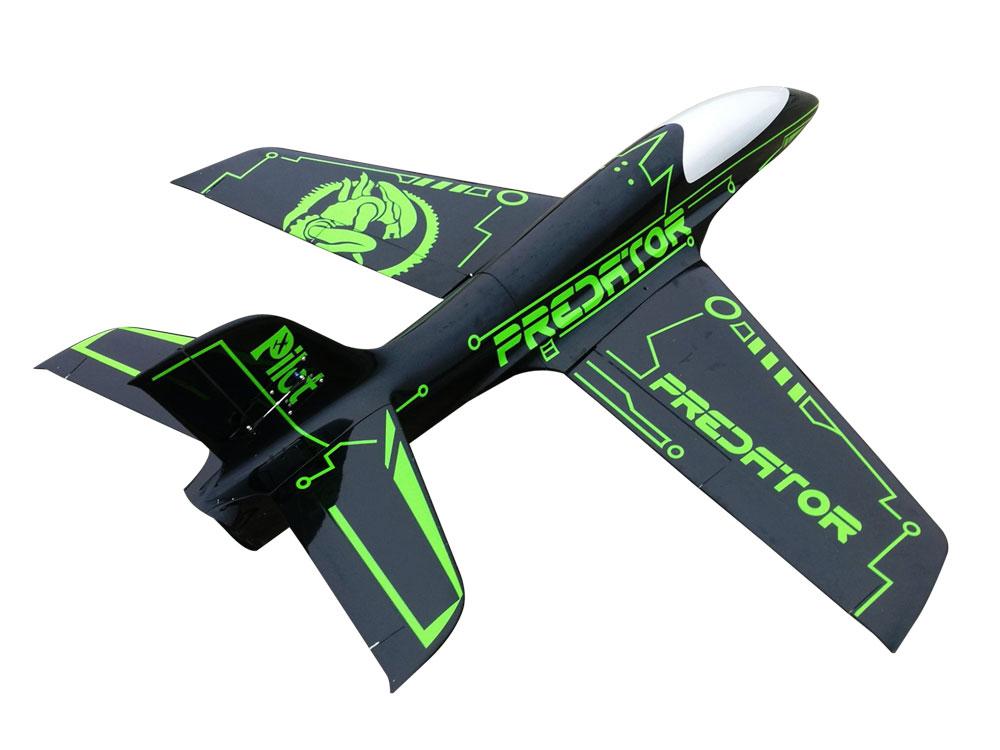Pilot-RC Predator 2.2m Composite Jet - Green/Black (Scheme 10)