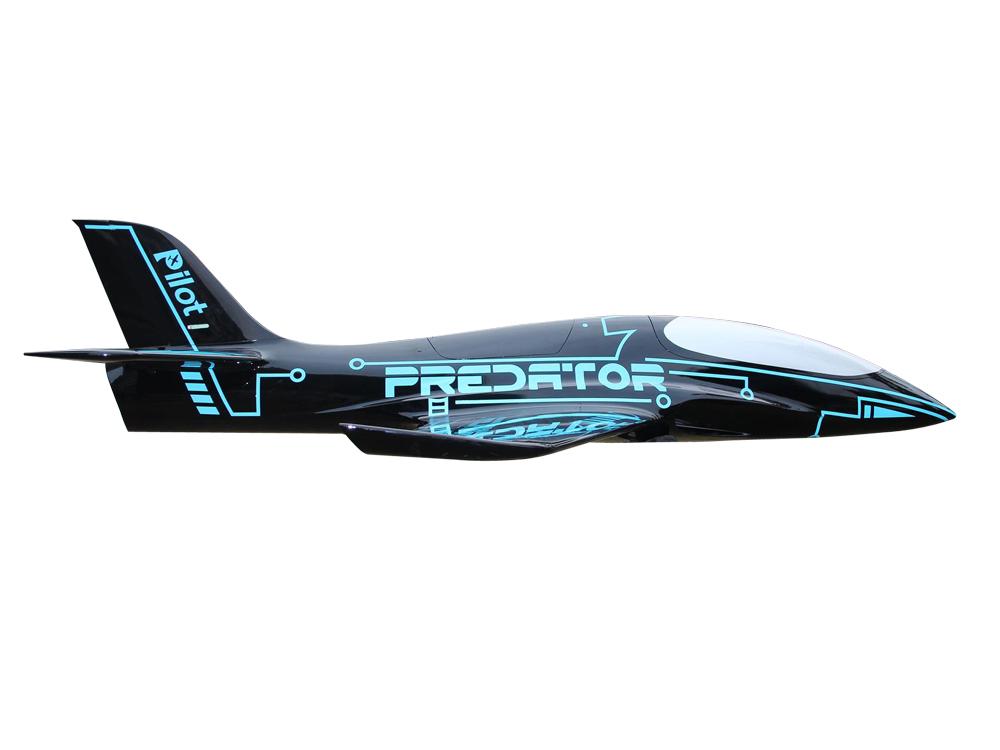 Pilot-RC Predator 2.2m Composite Jet - Blue/Black (Scheme 10)