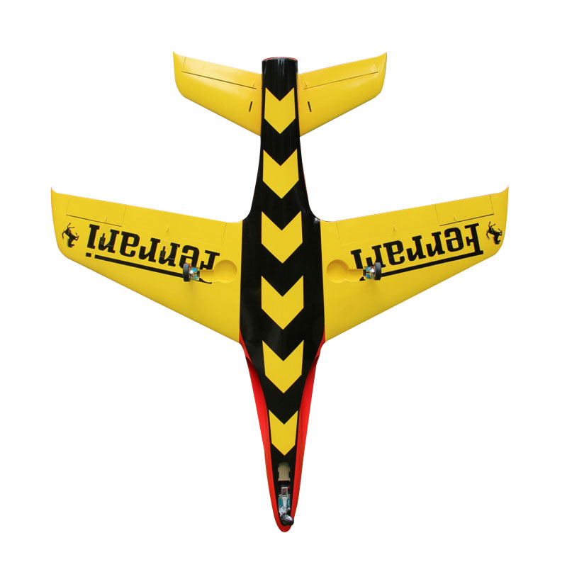 Pilot-RC Predator 2.2m Composite Jet - Red/Yellow (Scheme 13)