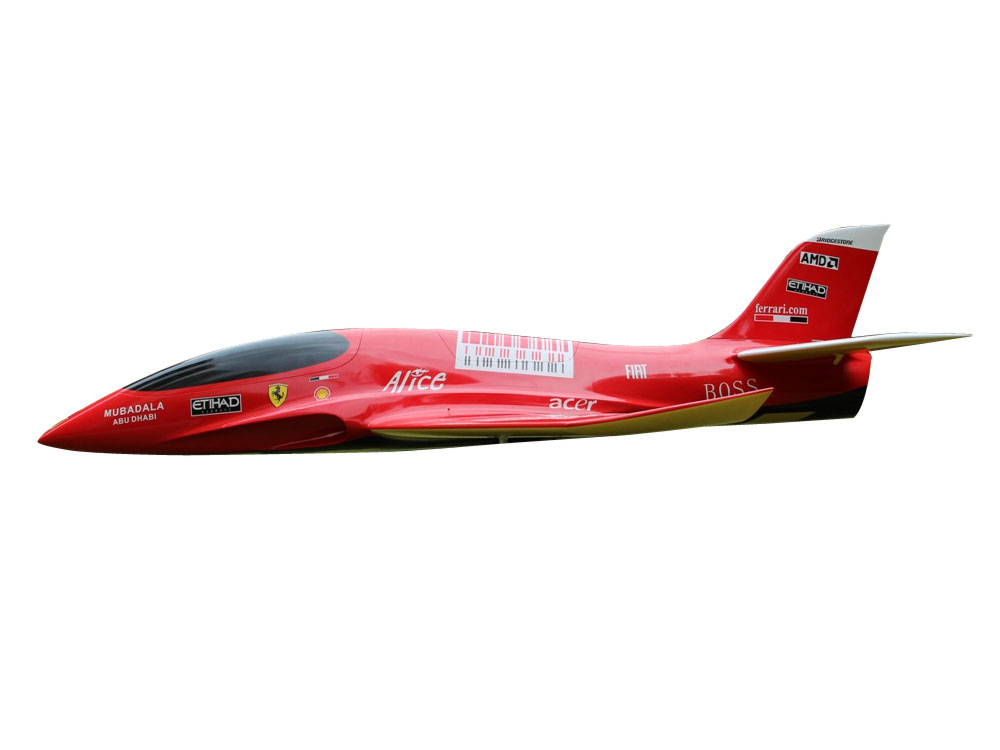 Pilot-RC Predator 1.8m Composite Jet - Red/Yellow (Scheme 13)