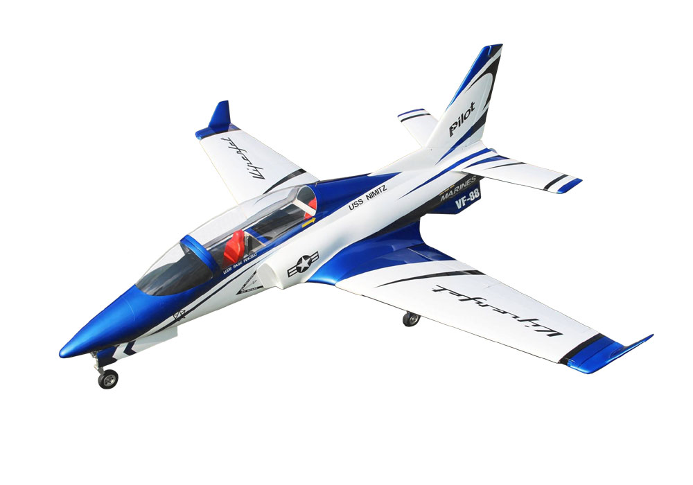Pilot-RC Viperjet 2.2m Wingspan Composite Jet - Metallic Blue/White/Black (Scheme 06)