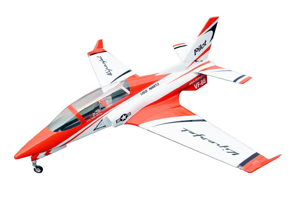 Pilot-RC Viperjet 2.2m Wingspan Composite Jet - Metallic Orange/White/Black (Scheme 07)