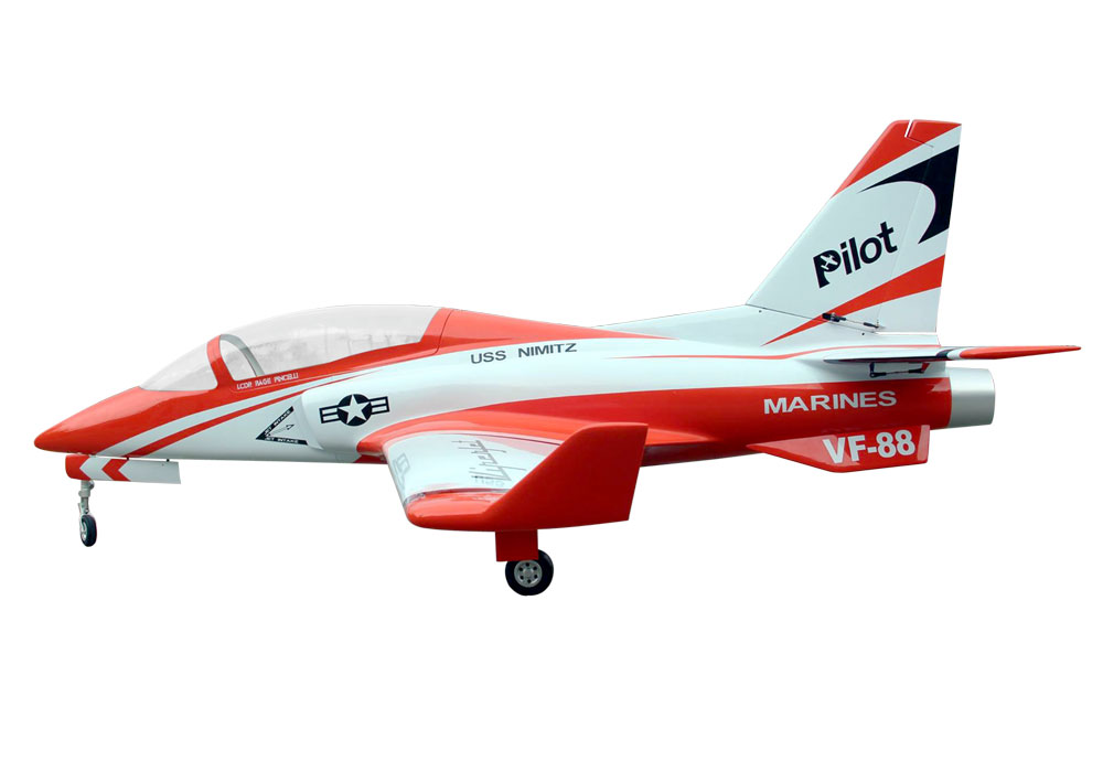 Pilot-RC Viperjet 3.26m Wingspan Composite Jet - Metallic Orange/White/Black (Scheme 07)