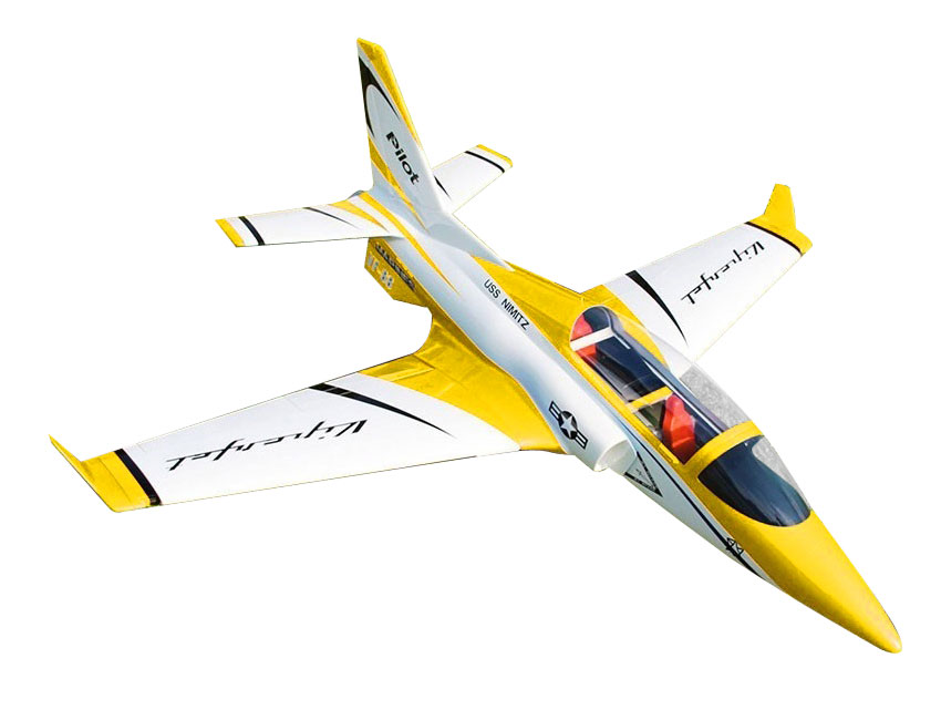 Pilot-RC Viperjet 2.2m Wingspan Composite Jet - Metallic Yellow/White/Black (Scheme 08)