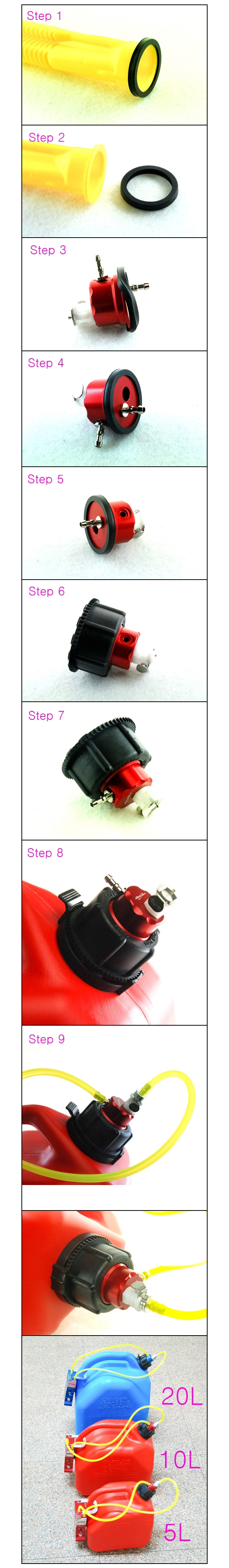 refueling cap installation instruction steps