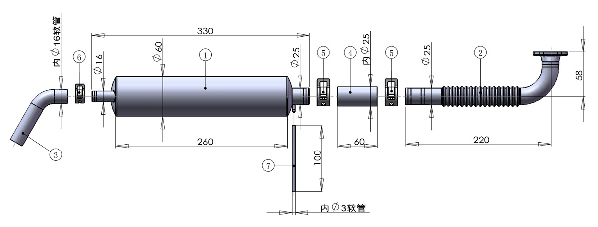 DLE111 Canister and Header Set Drawing