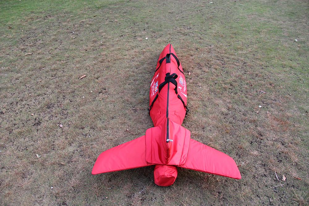 Pilot-RC Fuselage Bag for Predator Jet 2.2m (Red/Black)