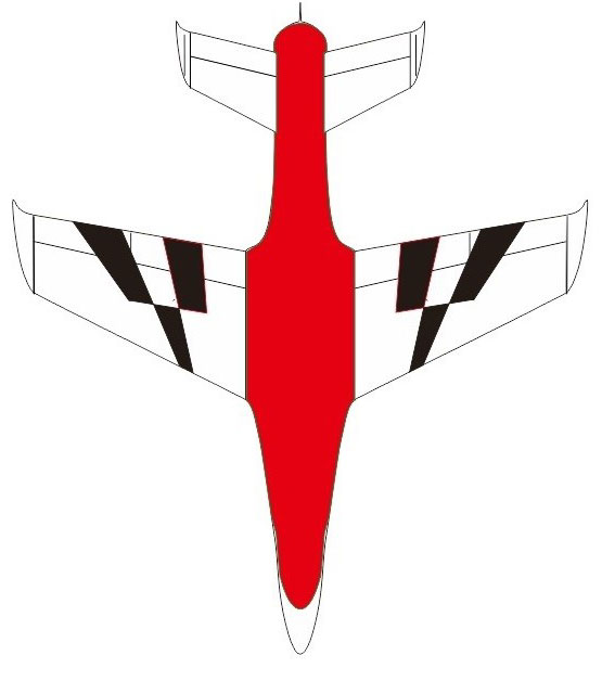 Pilot-RC Predator 2.2m Composite Jet - Red/White/Black (Scheme 14)