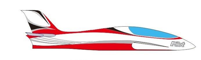 Pilot-RC Predator 3.2m Composite Jet - Red/White/Black (Scheme 14)