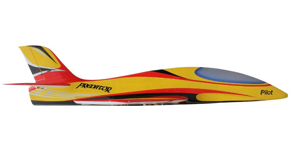 Pilot-RC Predator 3.2m Composite Jet - Yellow/Red/Black (Scheme 15)