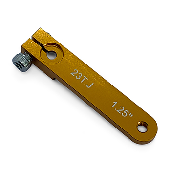 1.25in Aluminium Servo Arm M3 - Gold (For JR)
