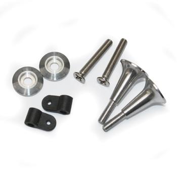 Extra Strong Aluminium Control Horns M2.8 x 24mm (Pair)