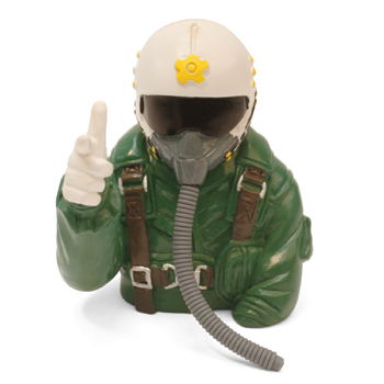 1/6th Scale Jet Pilot Bust (Green)