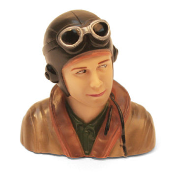 1/6th Scale WWII Pilot Bust