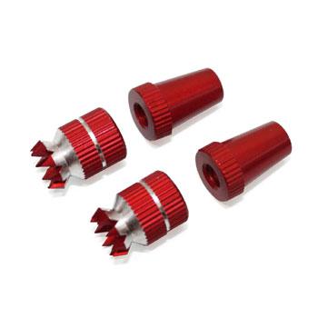 Transmitter Stick Ends Set M4 (For JR) (Red)