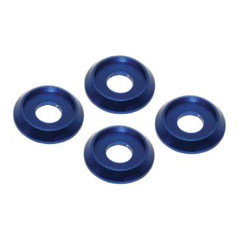 Aluminum Cone Washer 4pcs (Blue) ø4 D11 x H12