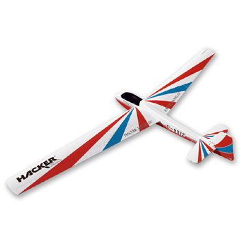 Hacker Model Bergfalke Foil Covered Glider