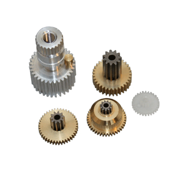 Metal Gearset for the JR Propo 361 and 368 servos.