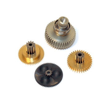 Replacement servo gearset for DS8511, DS8711, DS8911 & MP80T (Metal gear set with ball bearing).