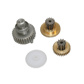 Replacement servo gearset for JR Propo NES8700G and  NES8000G servo (Metal gear set with ball bearing).