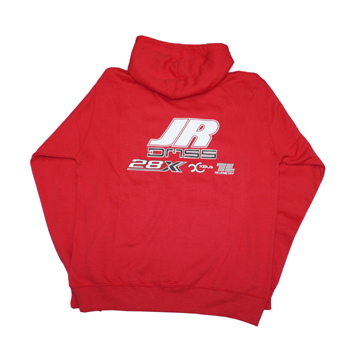 JR Propo Red Zipped Hoodie