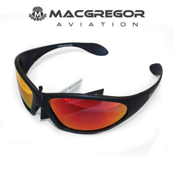 MacGregor Aviation Polarised Sunglasses Black with Red Lens