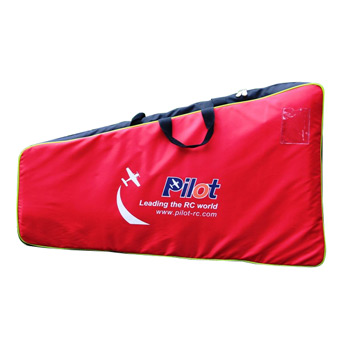 Pilot-RC Wing Bag for 35cc Aerobatic Plane/2.2M Viperjet (Red/Black)