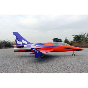 Pilot-RC 78in Dolphin Jet - Purple/Orange Colour Scheme