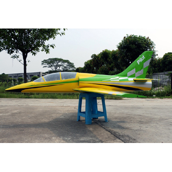 Pilot-RC 78in Dolphin Jet - Green/Yellow Colour Scheme