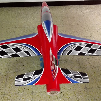 Pilot-RC 78in Dolphin Jet - Red/Blue Airbrush