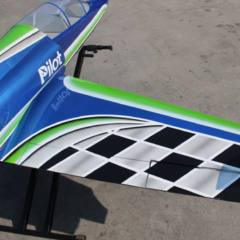 Pilot-RC 78in Dolphin Jet - Green/Blue Airbrush