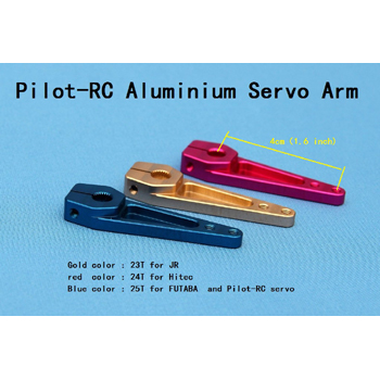 Pilot-RC Futaba Single Aluminium Servo Arm 1.6in