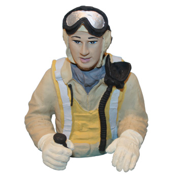 VQ Model Painted Pilot Bust