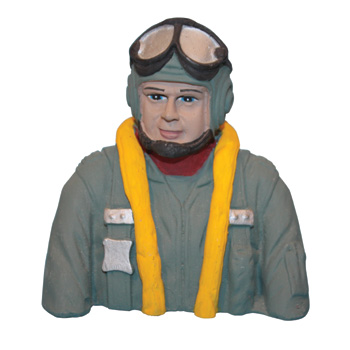 Painted WWII Pilot for Focke-Wulf FW-190A (.60 Size)