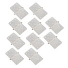 Nylon Pinned Hinges (L16 x w28mm) - White (x10)
