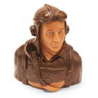 1/5th Scale Pilot Bust