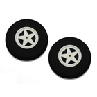 65mm Spoked Sponge Wheel (Pair)