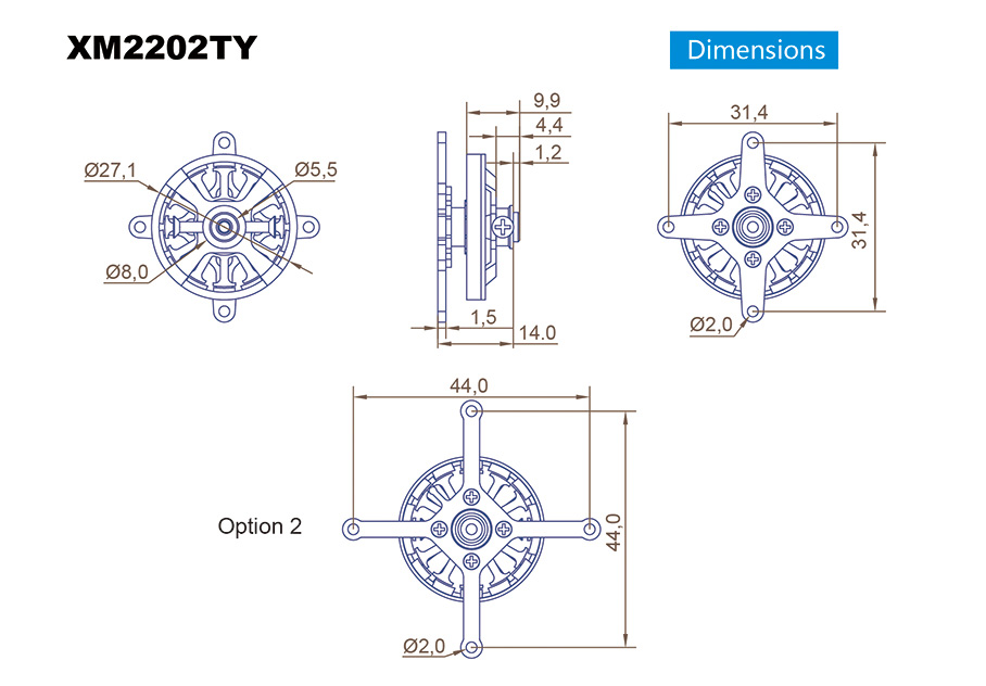XM2202TY-24SE Dimension Drawing