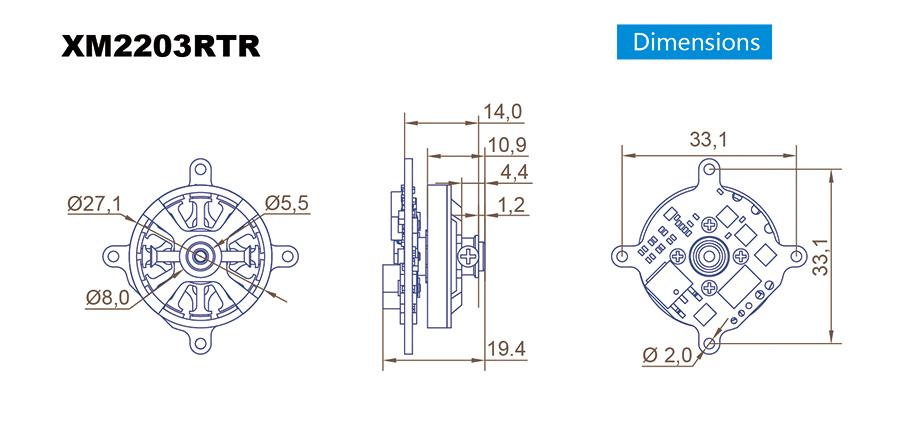 XM2203RTR-16 Dimension Drawing